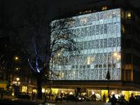 Christmas Lights at Peter Jones in Sloane Square