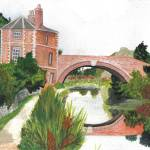 """Stonehouse Bridge cotswold landscapes"" by Rachelpeglerartworks"