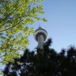 """""""Toronto - CN Tower From Base and Nearby Parks May"""" by Rixard"""