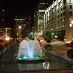 """Toronto Night - Fountain University Ave. and Queen"" by Rixard"
