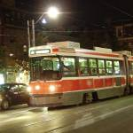 """Toronto Night - Streetcar Queen West, West Bound"" by Rixard"