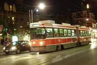 Toronto Night - Streetcar Queen West, West Bound