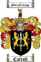 CARROLL FAMILY CREST -  CARROLL COAT OF ARMS