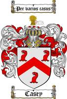 CASEY FAMILY CREST -  CASEY COAT OF ARMS