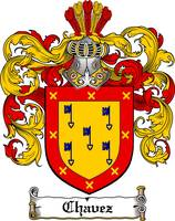 CHAVEZ FAMILY CREST -  CHAVEZ COAT OF ARMS