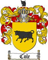 COLE FAMILY CREST -  COLE COAT OF ARMS