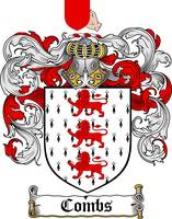 COMBS FAMILY CREST -  COMBS COAT OF ARMS