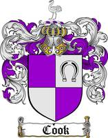COOK FAMILY CREST -  COOK COAT OF ARMS