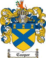 COOPER FAMILY CREST -  COOPER COAT OF ARMS