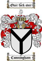 CUNNINGHAM FAMILY CREST -  CUNNINGHAM COAT OF ARMS