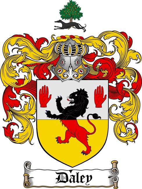 DALEY FAMILY CREST - DALEY COAT OF ARMS by Family Crest