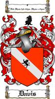 DAVIS FAMILY CREST -  DAVIS COAT OF ARMS