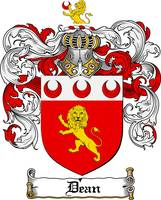 DEAN FAMILY CREST -  DEAN COAT OF ARMS