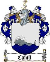 CAHILL FAMILY CREST -  CAHILL COAT OF ARMS