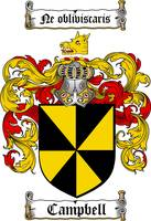 CAMPBELL FAMILY CREST -  CAMPBELL COAT OF ARMS
