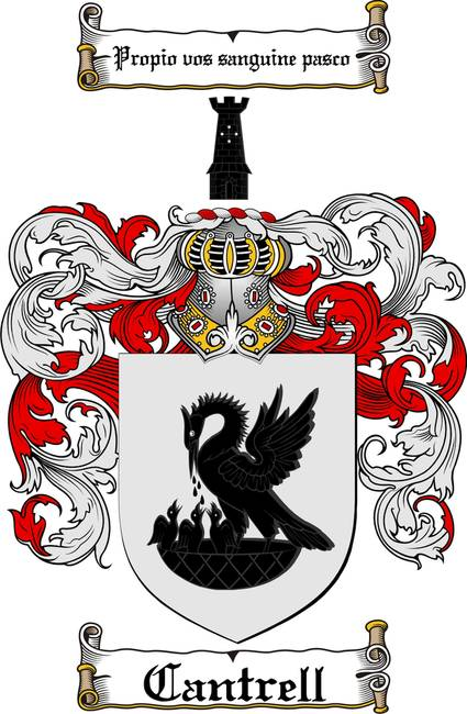 CANTRELL FAMILY CREST - CANTRELL COAT OF ARMS by Family Crest