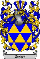 CARLSON FAMILY CREST -  CARLSON COAT OF ARMS