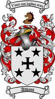 ADKINS FAMILY CREST - COAT OF ARMS