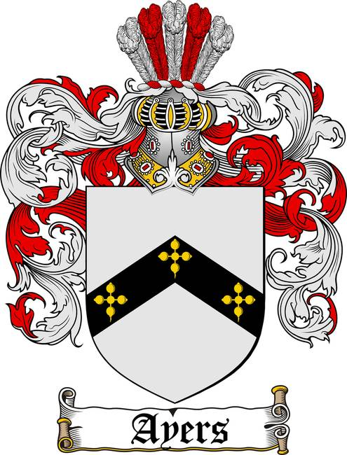 Ayers Family Crest Coat Of Arms By Family Crest