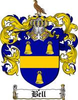 BELL FAMILY CREST - COAT OF ARMS
