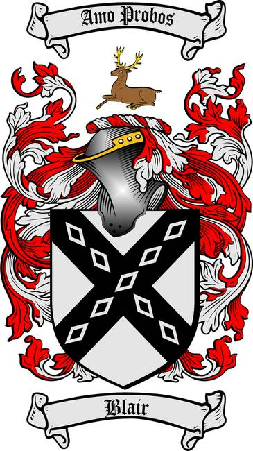Blair Family Crest Coat Of Arms By Family Crest