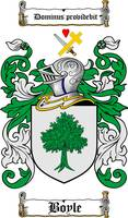 BOYLE FAMILY CREST - COAT OF ARMS
