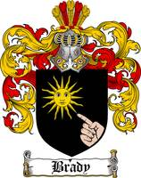 BRADY FAMILY CREST - COAT OF ARMS
