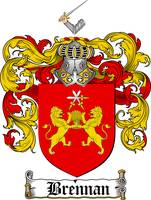 BRENNAN FAMILY CREST - COAT OF ARMS