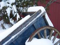 Snow Covered Wagon