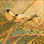 """Two Goldfinch in Sepia"" by JENLO"