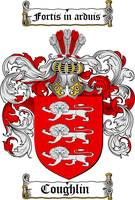 COUGHLIN FAMILY CREST - COAT OF ARMS