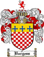 BURGESS FAMILY CREST - COAT OF ARMS