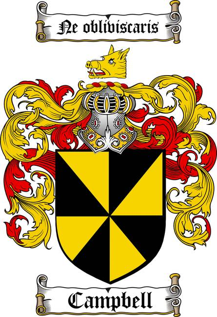 Campbell Family Crest Coat Of Arms By Family Crest