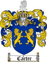 CARTER FAMILY CREST - COAT OF ARMS