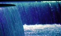 blue waterfall