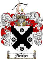FLETCHER FAMILY CREST - COAT OF ARMS