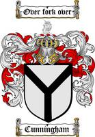 CUNNINGHAM FAMILY CREST - COAT OF ARMS