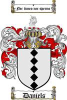 DANIELS FAMILY CREST - COAT OF ARMS