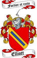 ELLIOTT FAMILY CREST - COAT OF ARMS