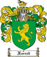 FARRELL FAMILY CREST - COAT OF ARMS