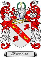 FRANKLIN FAMILY CREST - COAT OF ARMS
