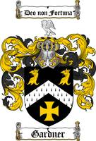 GARDNER FAMILY CREST - COAT OF ARMS