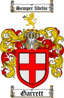 GARRETT FAMILY CREST - COAT OF ARMS