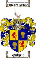 GUTHRIE FAMILY CREST - COAT OF ARMS