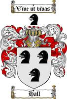 HALL FAMILY CREST - COAT OF ARMS