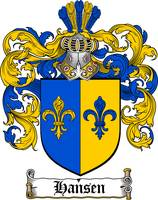 HANSEN FAMILY CREST - COAT OF ARMS