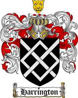 HARRINGTON FAMILY CREST - COAT OF ARMS