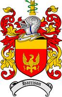 HARRISON FAMILY CREST - COAT OF ARMS