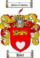 HART FAMILY CREST - COAT OF ARMS