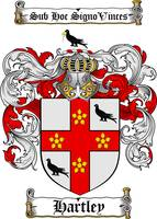 HARTLEY FAMILY CREST - COAT OF ARMS
